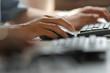 Leinwanddruck Bild - Computer Tastatur