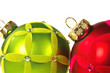 Trendy Green and Red Ornaments