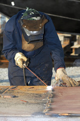 burn worker