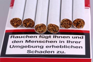Zigaretten in der Schachtel