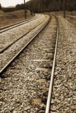 Nostalgic rail way poster