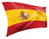 Silk effect Spanish flag on white background poster