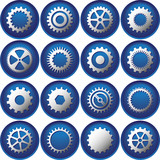 Sixteen Cog Buttons/Icons poster