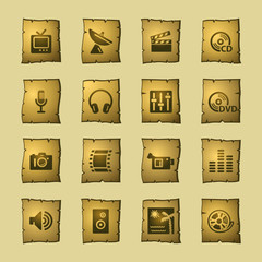 papyrus media icons