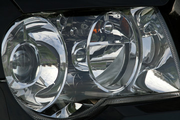 large car headlight