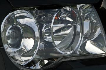 large car headlight
