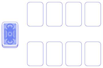 Kartenspieltisch, weiße Vorlage