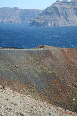 A view of Santorini's Caldera from the volcano