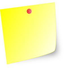 Vector post-it note