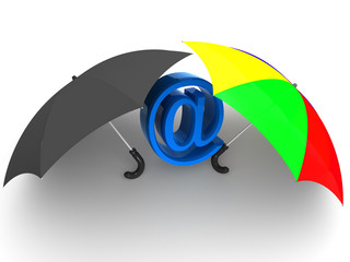 symbol of internet with umbrella