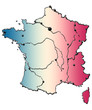 France bleu, blanc, rouge