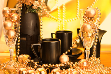 Gold and Black Festive Drinks