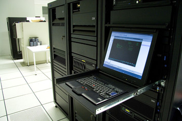 IBM AS400 mainframe with console