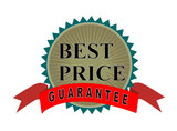 Best price guaranteed icon poster