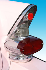 classic american pink cadilac tail fins