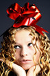 girl red bow