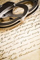 handcuffs on constitution