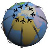 Airline Travel Destination: Europe poster