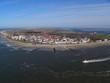 Leinwandbild Motiv Luftaufnahme Insel Norderney