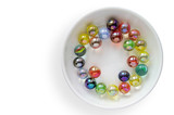Colored glass marbles (1)