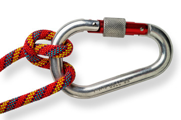 Mountaineering: Munter or Italian  hitch on locking or safety al
