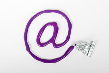 violet at tube