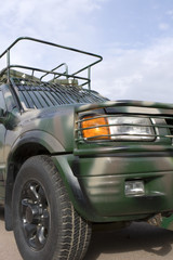military colored vehicle