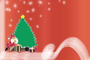 weihnachtsman und geschenke