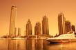 Quadro Dubai Marina during sunset