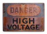 Danger - high voltage poster