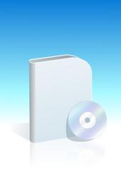 Boite de logiciel bleu (style moderne)