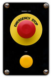 Emergency stop button poster