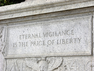 Eternal Vigilance… Inscription at US Supreme Court building