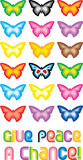 Peace Butterfly Symbol - Give peace a chance poster