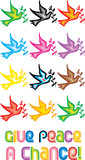 Peace Doves Symbol - Give peace a chance poster