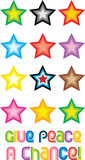 Peace Stars Symbol - Give peace a chance poster