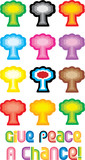 Peace Tree or Mushroom Cloud Symbol - Give peace a chance poster