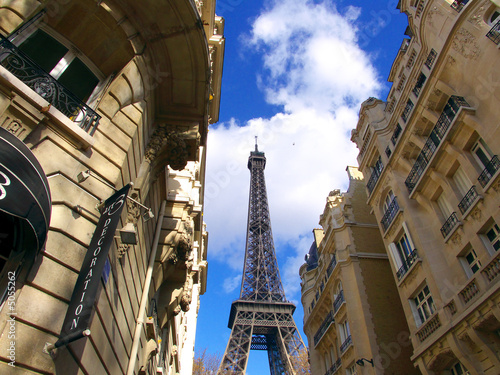 La Tour Eiffel au bout de la rue