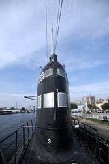 The old submarine in World Ocean museum.