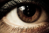 Sharp macro of an eye poster
