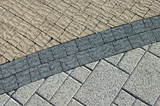 Three kinds pavement bricks texture poster