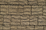 Pavement brown bricks texture poster