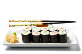 maki sushi meal isolated on white poster