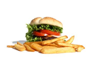 Hambuger and Fries