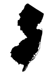 map of New Jersey, USA