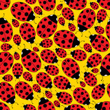 Seamless Repeating Ladybug Pattern poster