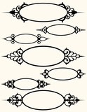 Seven Oval Frames with Flourishes poster