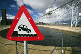 Car falling into Copenhagen harbour  poster
