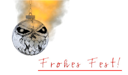 Weihnachtskugel Totenkopf Wheinachten