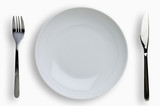 Place setting with clipping path